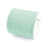 Faux suede veter 3mm Pastel green