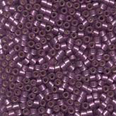 MIYUKI Delica Seed Beads DB695 11/0 Round - Semi Matte Silver Lined Violet DB-695