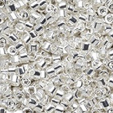 MIYUKI Delica Seed Beads DB551 11/0 Round - Silver Plated DB-551