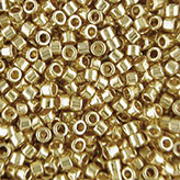MIYUKI Delica Seed Beads DB034 11/0 Round - Lt24KT gold Plated DB-34