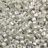 MIYUKI Delica Seed Beads DB551F 11/0 Round - Silver Plate Frosted DB-551F