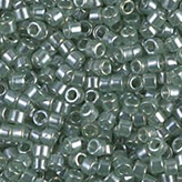 MIYUKI Delica Seed Beads DB1484 11/0 Round -  Transparent Lt Moss Green Luster DB-1484