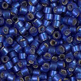 MIYUKI Delica Seed Beads DB693 11/0 Round -Semi Matte Silverlined Medium Dyed Blue DB693
