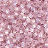 MIYUKI Delica Seed Beads DB624 11/0 Round -Silverlined Light Pink Alabaster DB624
