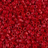 MIYUKI Delica Seed Beads DB791 11/0 Round - Dyed Opaque Red DB-791