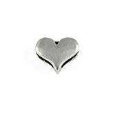Designer Quality DQ Metalen schuifkralen antiek zilver hartje schuiverkraal sliderkraal