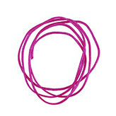 Nylon koord shamballakoord mousetail satijn 0,8mm Fuchsia