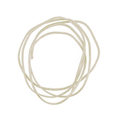 Nylon koord shamballakoord mousetail satijn 0,8mm Light champagne beige