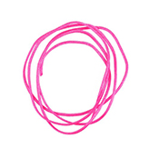 Nylon koord shamballakoord mousetail satijn 0,8mm Neon pink