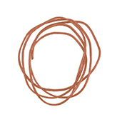 Nylon koord shamballakoord mousetail satijn 0,8mm Light copper brown