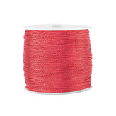 Macramé draad 0,5mm metallic Fiery red