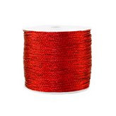 Macramé draad 0,5mm metallic Deep red