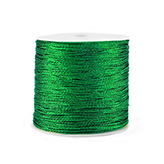 Macramé draad 0,5mm metallic Irish green