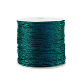Macramé draad 0,5mm metallic Forest green