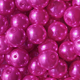 Glasparel 10mm fel roze fuchsia