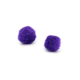 Pompom bedel 8mm Purple