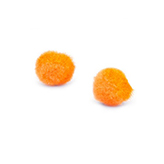 Pompom bedel 8mm Tangerine orange