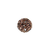 Plaksteen mineraal-look met glitters 12mm dark rose gold