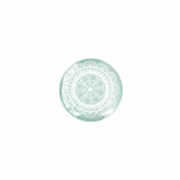 Plaksteen cabochon mandala 12mm Light greenish grey