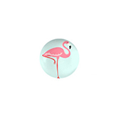 Plaksteen cabochon flamingo 12mm light turquoise blue