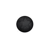 [PS5038] Cabochon Polaris matt 12mm nero zwart met ster