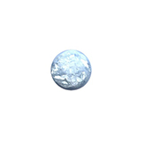 Plaksteen cabochon camee Polaris pearl shine 11,5mm cloud blue