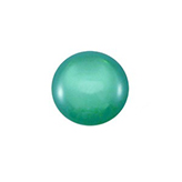 Plaksteen cabochon camee Polaris shiny 11,5mm Light Emerald