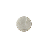 Polaris cabochon plat 12mm Mosso shiny Light taupe