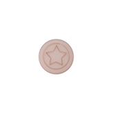 Cabochon Polaris ster plat 12mm matt Vintage rose