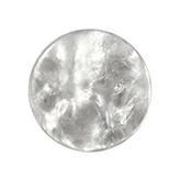 Cabochon Polaris Perseo plat 35mm shiny White grey