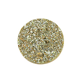 Cabochon Polaris Goldstein plat 20mm Golden yellow