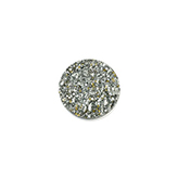 Cabochon Polaris Goldstein plat 12mm White silver