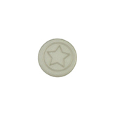 Cabochon Polaris ster plat 12mm matt Silver shade