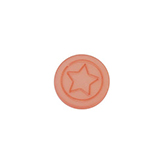 Cabochon Polaris ster plat 12mm matt Rose peach