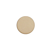 Plaksteen cabochon camee Polaris plat 12mm matt Light Taupe