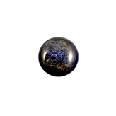 Plaksteen cabochon camee Polaris Stardust 12mm Midnight Blue