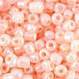 Rocailles 6/0 4mm high shine vintage Rose Peach