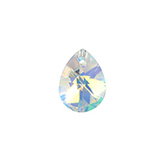 Swarovski Xilion Pear 6128 12mm Crystal AB