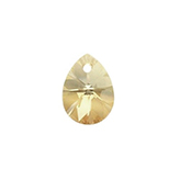 Swarovski Xilion Pear 6128 12mm Crystal Golden Shadow