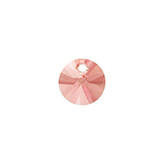 Swarovski rivoli 6428 hanger 8mm Rose Peach