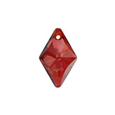 Swarovski Rhombus 6320 hanger 19mm Crystal Red Magma