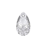 Swarovski Pear 6106 16mm Crystal Silver Patina
