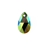 Swarovski Pear 6106 16mm Crystal Scarabaeus Green