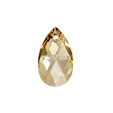 Swarovski Pear 6106 22mm Crystal Golden Shadow