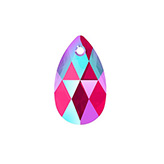 Swarovski Pear 6106 22mm Light Siam Shimmer