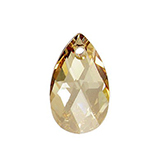 Swarovski Pear 6106 16mm Crystal Golden Shadow