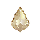Swarovski Flat Baroque 6091 38mm Crystal Golden Shadow