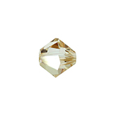 Swarovski Bicone 5328 4mm Crystal Golden Shadow