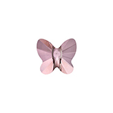 Swarovski Butterfly 5754 8mm Crystal Antique Pink