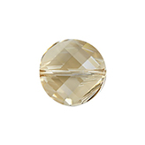Swarovski Twist 5621 14mm Crystal Golden Shadow